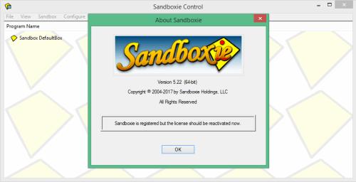 Resultado de imagen de Sandboxie 5