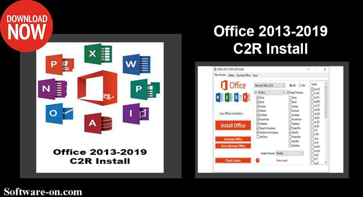 Office 2013-2019 C2R Install Activation Tools Download Link