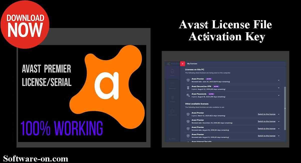 Avast Premium Activation Code & License File 2019 Till ...