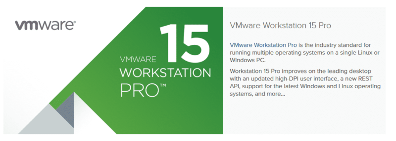 VMware Workstation Pro, VMware Workstation Pro, Software ON
