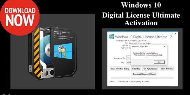 Windows 10 Digital License Ultimate Portable Activator Download Link