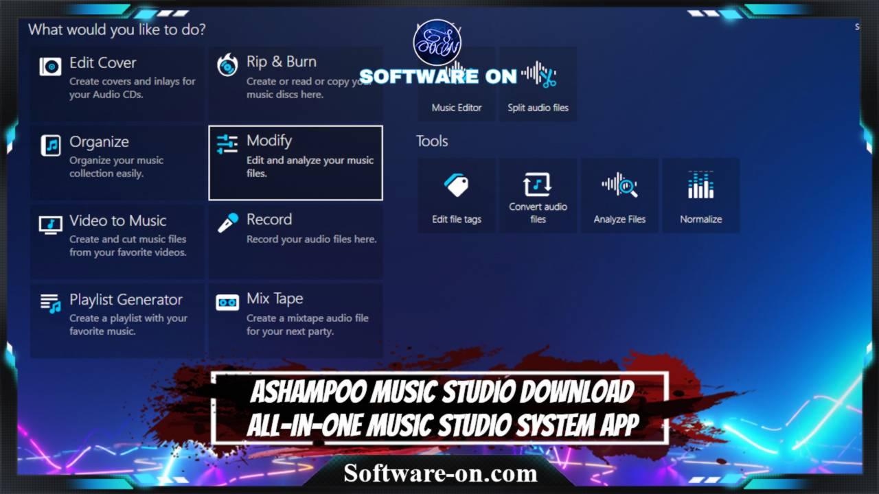 Ashampoo Music Studio Download All-In-One Music Studio System App