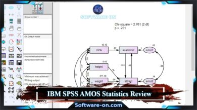 Photo of IBM SPSS AMOS Statistics Software 2020 Review